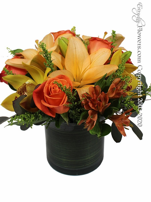"Autumn Harvest<p style=""color:red;"">Enhance Your Arrangement By Choosing Larger Sizes</p>"