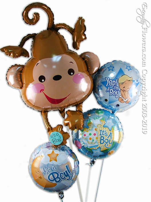 Baby Boy Monkey Balloons