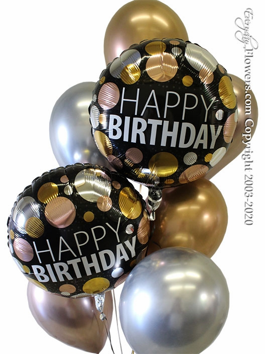 Birthday Metallic Dots  Balloons