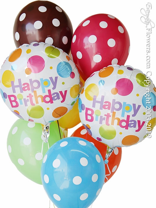 Birthday Polka Dot Balloons
