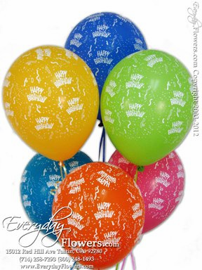 Six Birthday Balloons