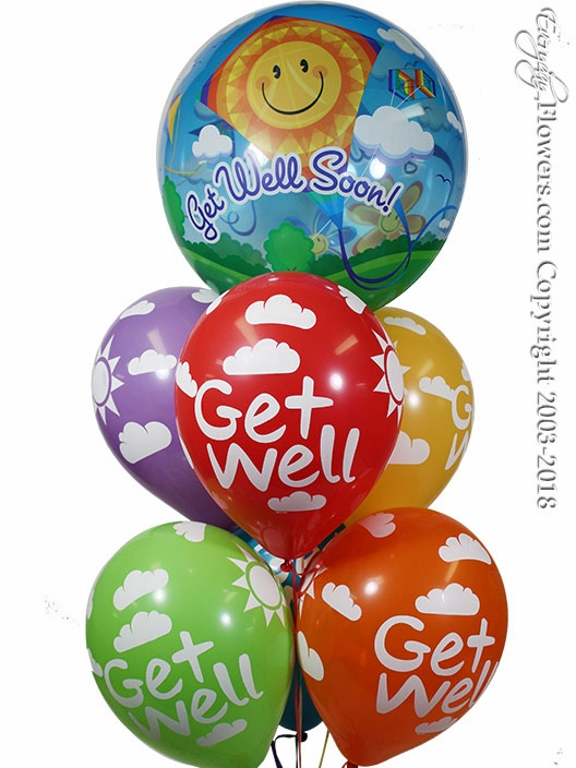 CBB113 Get Well Soon Bubble Balloons