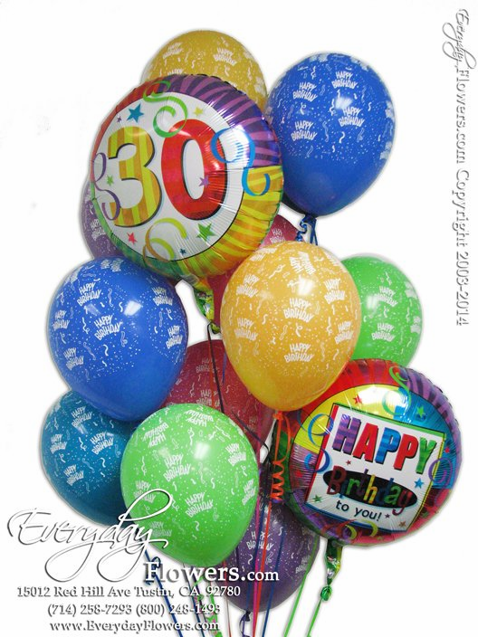 30th Birthday Balloons