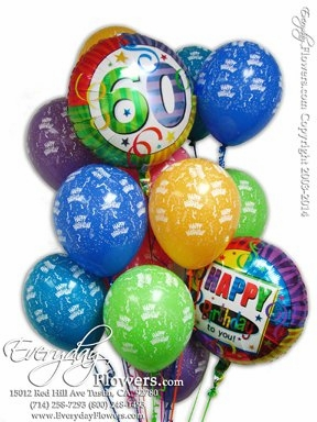 CBB137 60th Birthday Balloons