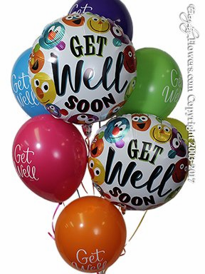 CBB159 Get Well Soon Smiley Balloons