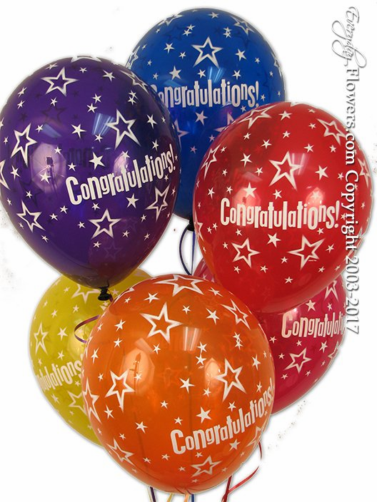 CBB202 Congratulations Latex Balloons