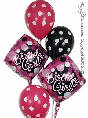 CBB216 Birthday Girl Balloons