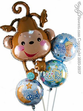 CBB22 Birthday Boy Monkey Balloons