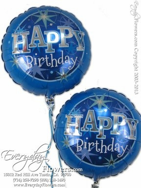 CBB265 Blue Birthday Foil Balloons