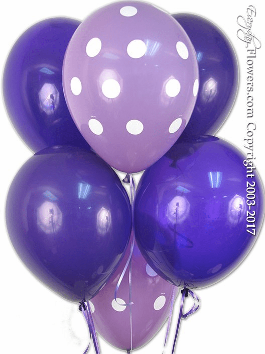 CBB267 Purple Latex Balloons Variety