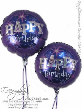 CBB268 Purple Birthday Foil Balloons