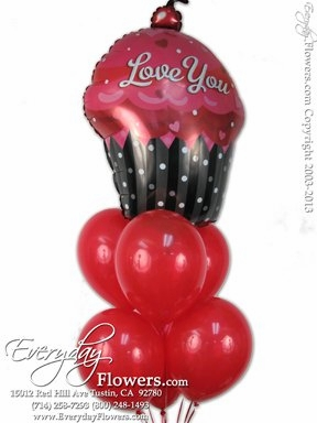 CBB272 Love You Cupcake Balloons