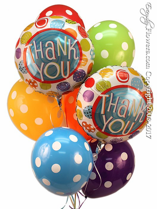 CBB293 Thank You Balloons