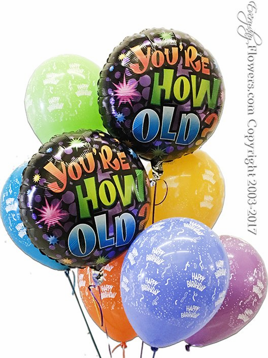 CBB298 You're How Old Balloons