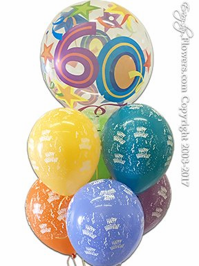 CBB304 60 Balloon Bouquet
