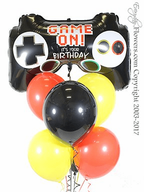 CBB318 Video Game Controller Balloons Birthday