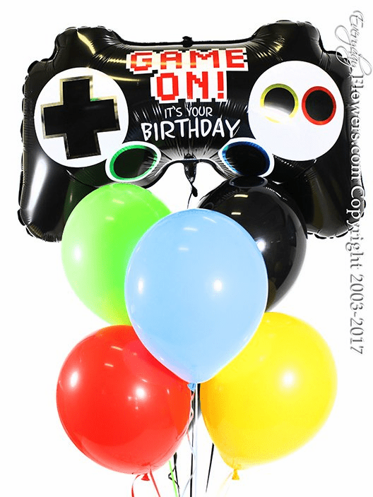 CBB319 Video Game Controller Balloons Birthday 2