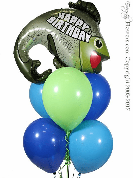 CBB321 Happy Birthday Fishing Balloons
