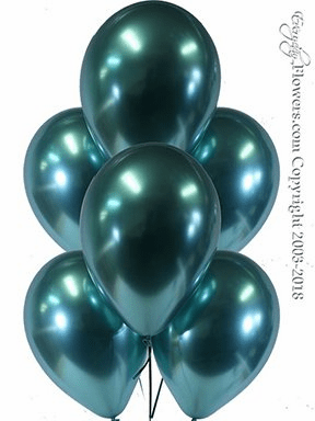 CBB328 Chrome Green Balloons