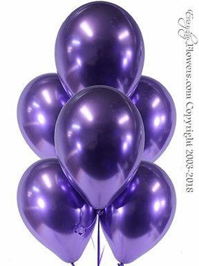 CBB329 Chrome Purple Balloons