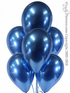 CBB330 Chrome Blue Balloons