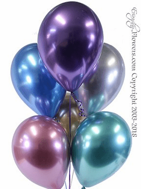 CBB332 Chrome Metallic Balloons