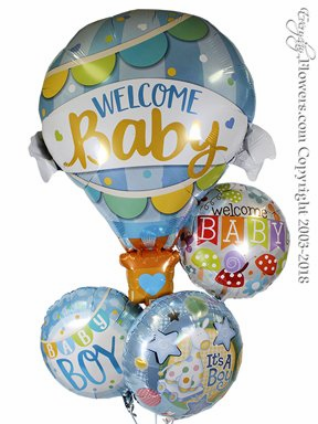 CBB345 Welcome Baby Boy Foil Balloons