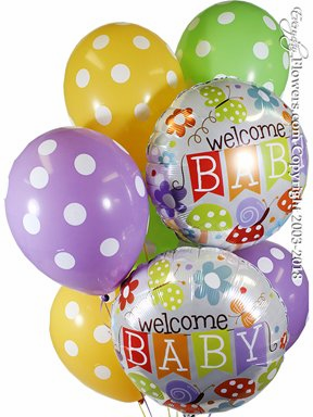 CBB349 Welcome Baby Balloons