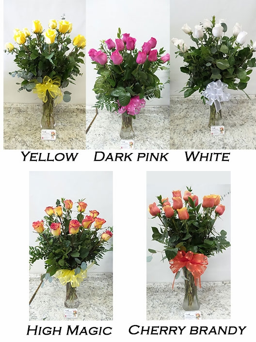 Choose Your Colors One Dozen Valentines Roses
