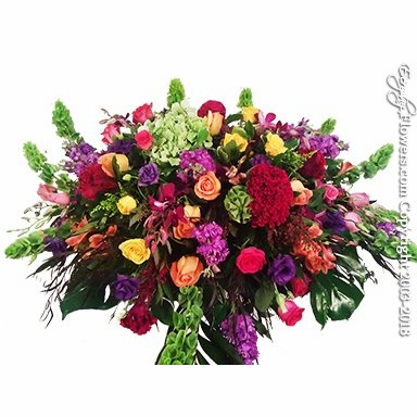 Colorful Casket Flowers