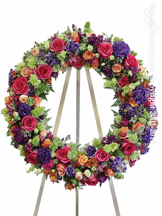 Colorful Funeral Wreath