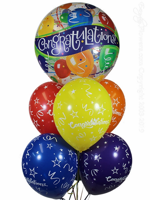 Congratulations Bubble  Balloon Bouquet