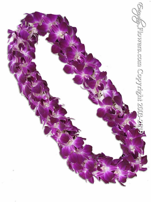 Double Purple Orchid Lei