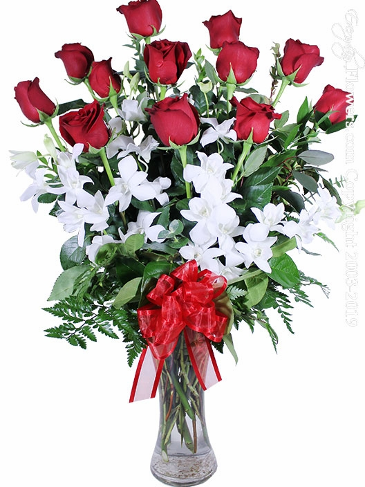 "Dozen Valentines Roses And Orchids<p style=""color:red"">Sold Out</p>"