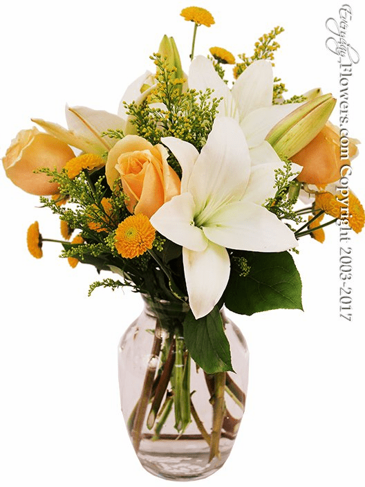 Yellow And White Florals