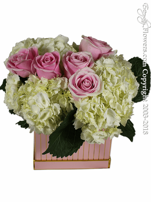 PInk Rose And Hydrangea Gift Box