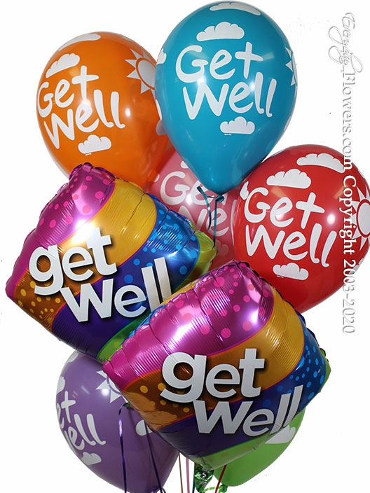 Get Well Curvy Balloons