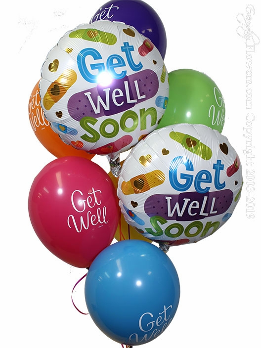 Get Well Soon Bandaids Balloons