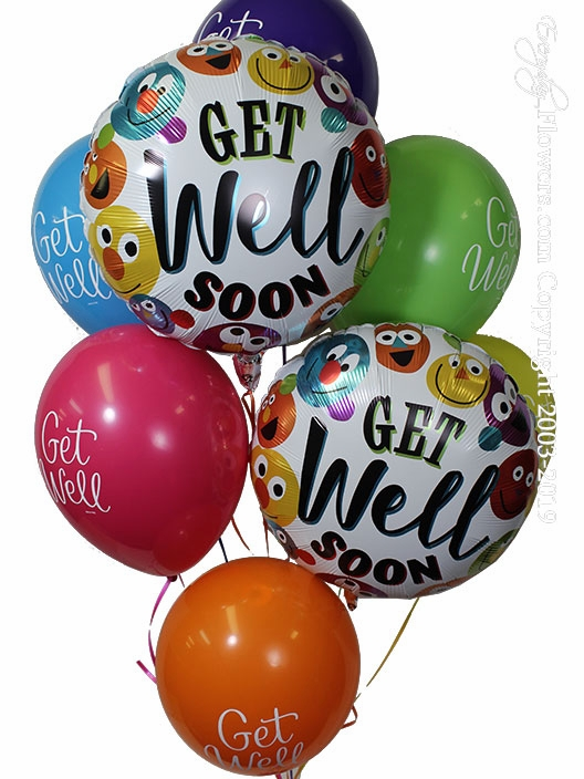 Get Well Soon Smiley Balloons
