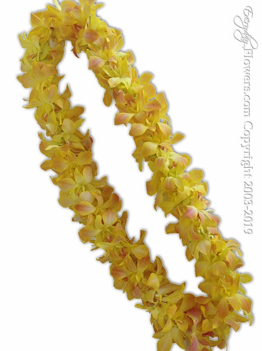 Yellow Orchid Lei