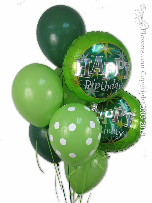 Green Birthday Balloons