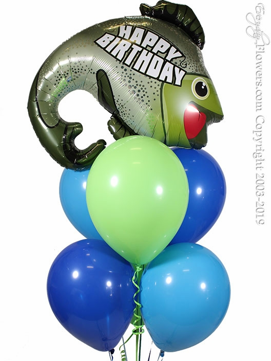 Happy Birthday Fishing Balloons