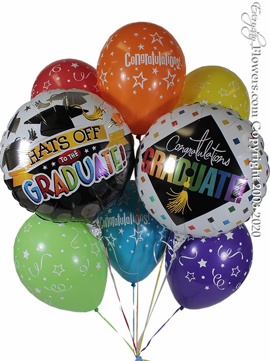 Hats Of To The Graduate Balloon Bouquet