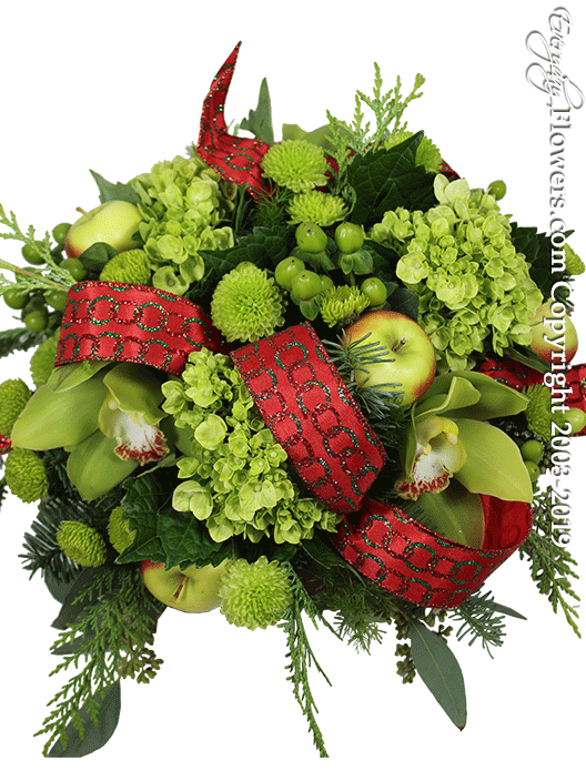 Holiday Spirit Christmas Flower Arrangements by Everyday Flowers Top View