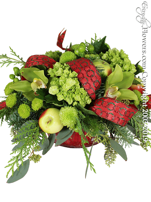 Holiday Spirit Christmas Flower Arrangements by Everyday Flowers Side View