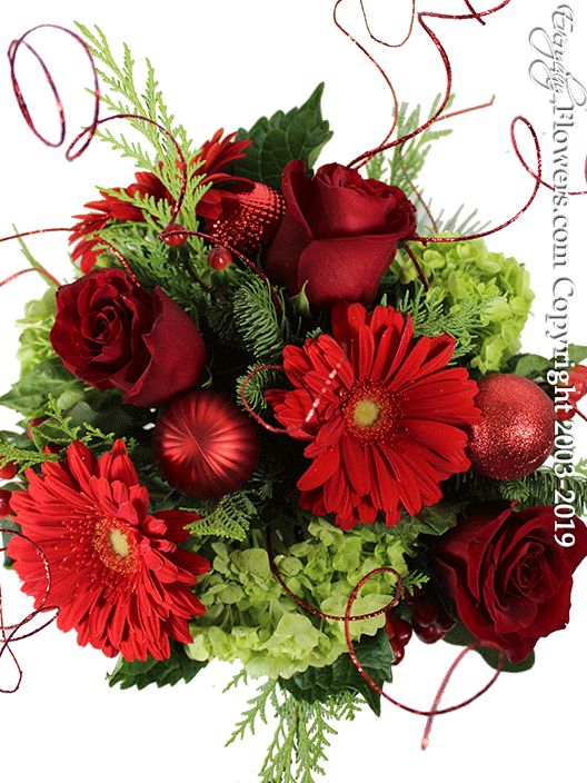 Home For The Holidays Christmas Flower Arrangements by Everyday Flowers Top View