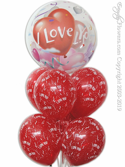 """I Love You Bubble Balloons<p style=""""color:red"""">Out Of Stock</p>"""