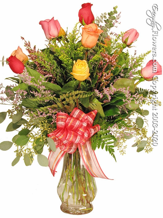 "Mixed Dozen Roses<p style=""color:red;"">Not Available For Valentines Week</p>"