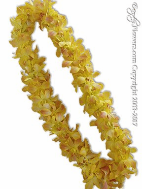 Gold Orchid Lei