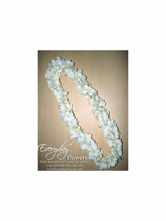 Double White Orchid Lei<p>Sold Out Until 02/18</p>